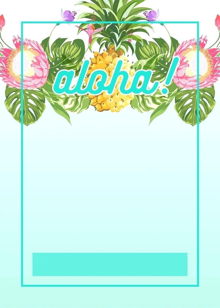 Hawaiian Themed Invitation Template