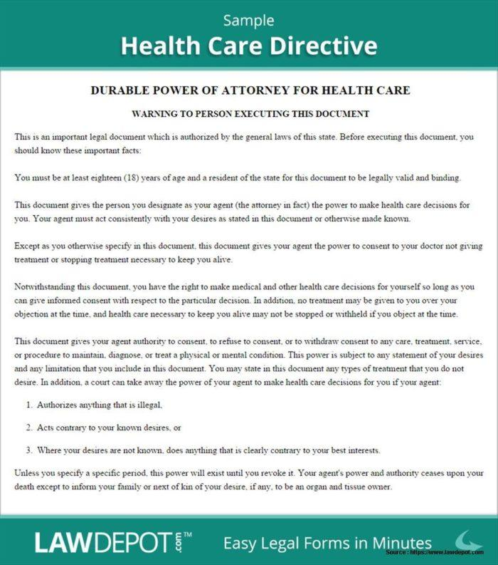 Health Care Directive Form Nsw