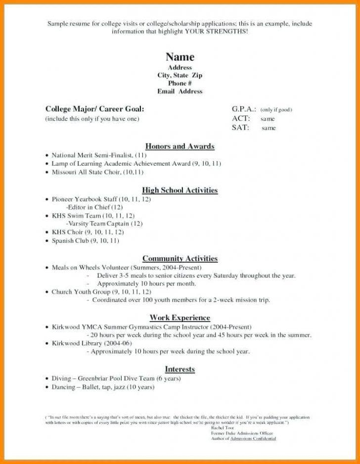 Free High School Resume Templates Microsoft Word Resumes