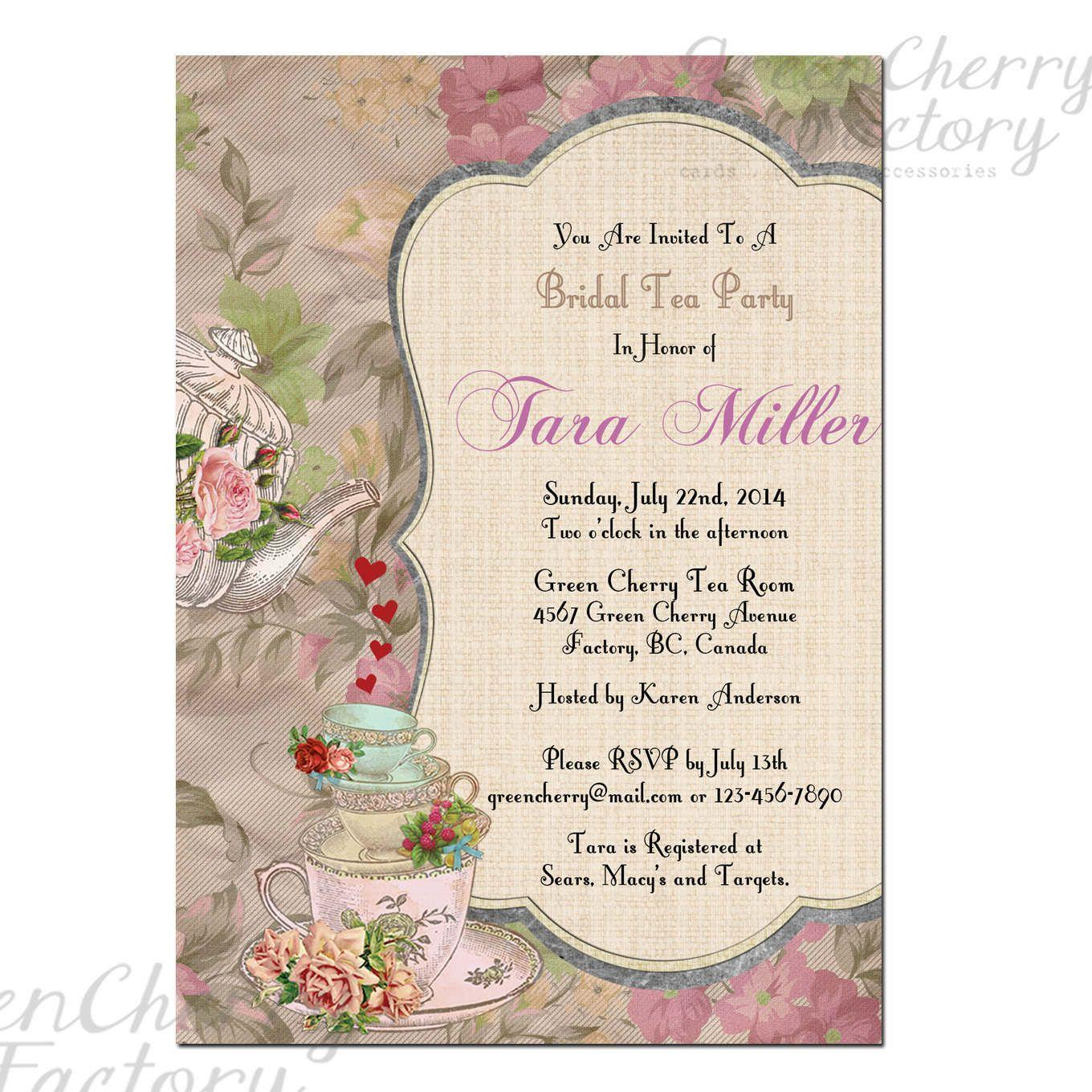 High Tea Invitation Template Free Download