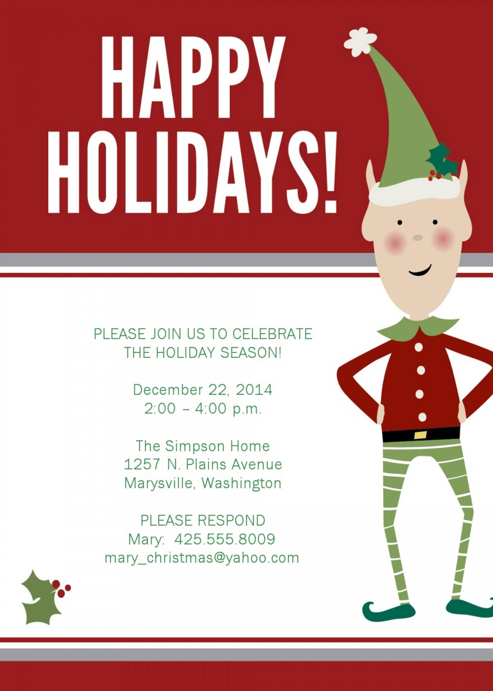 Holiday Luncheon Invitation Templates