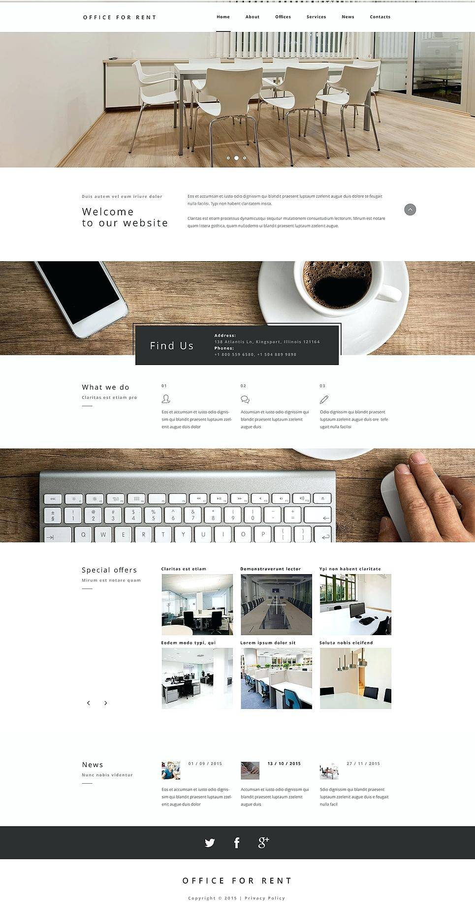 Holiday Property Rental Website Template