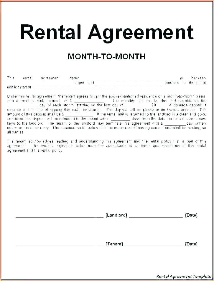 Holiday Rental Agreement Template South Africa
