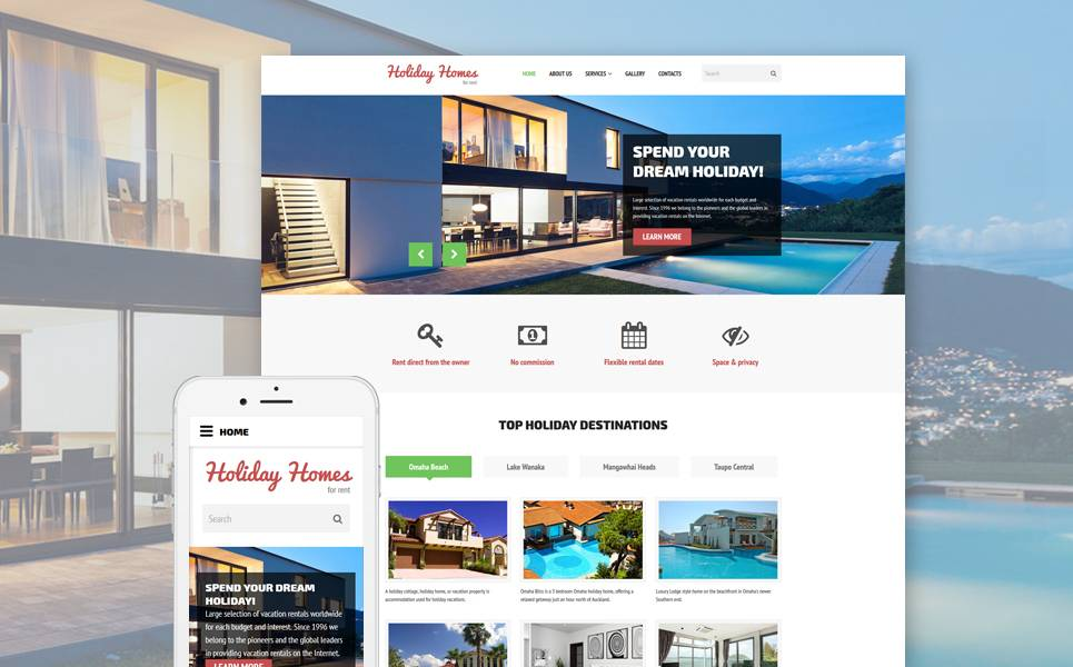 Holiday Rental Website Template