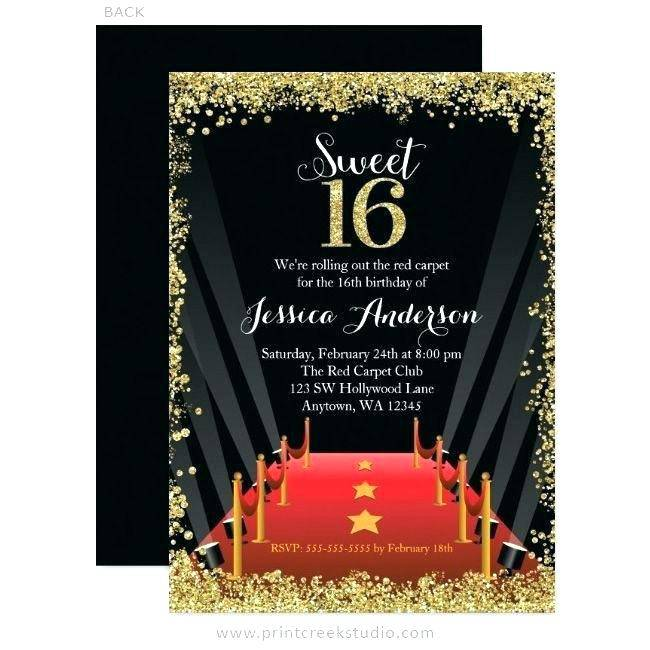 Hollywood Prom Invitation Template