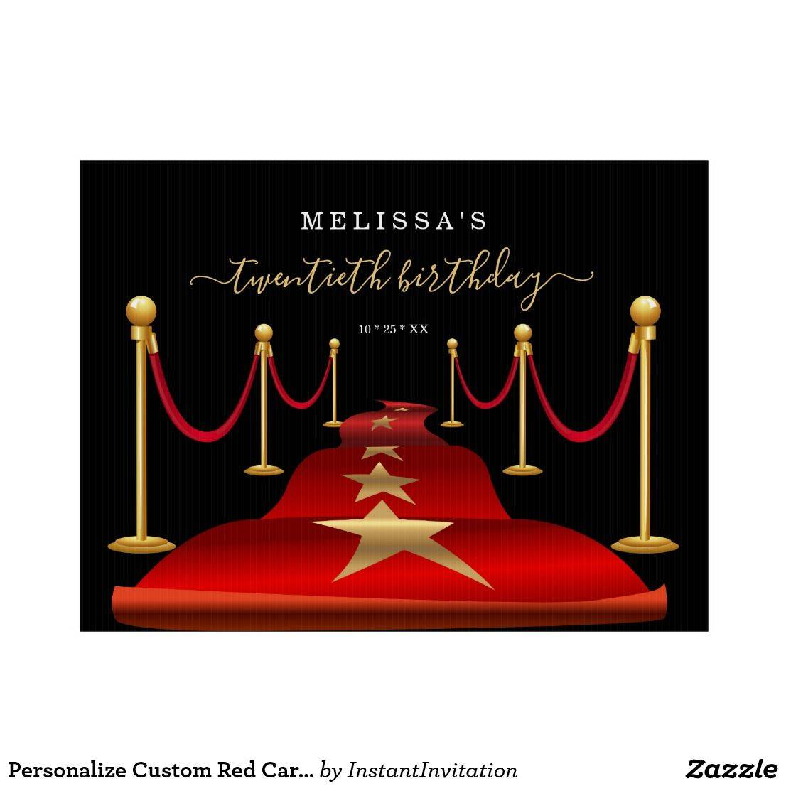 Hollywood Red Carpet Invitation Template
