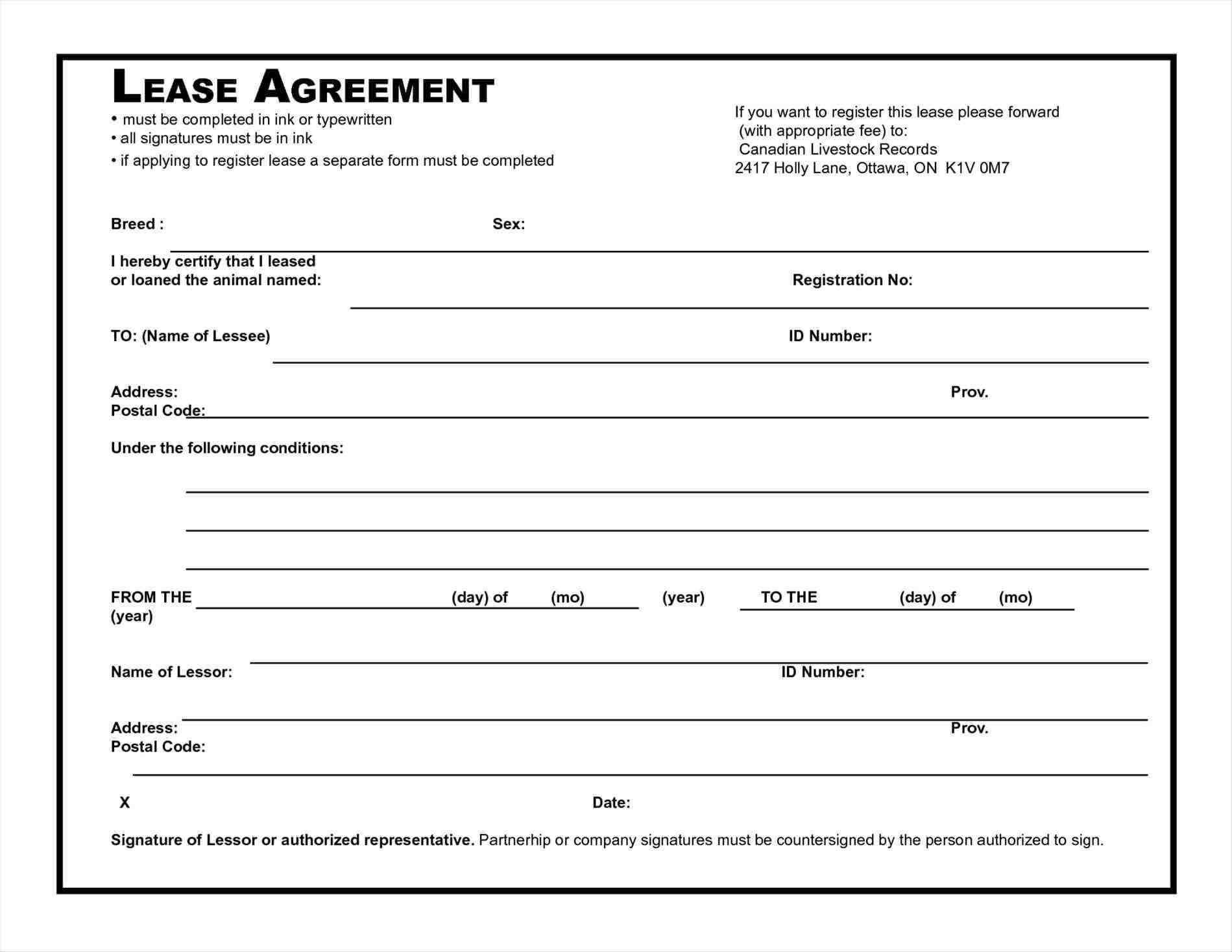 House Rental Agreement Contract Template