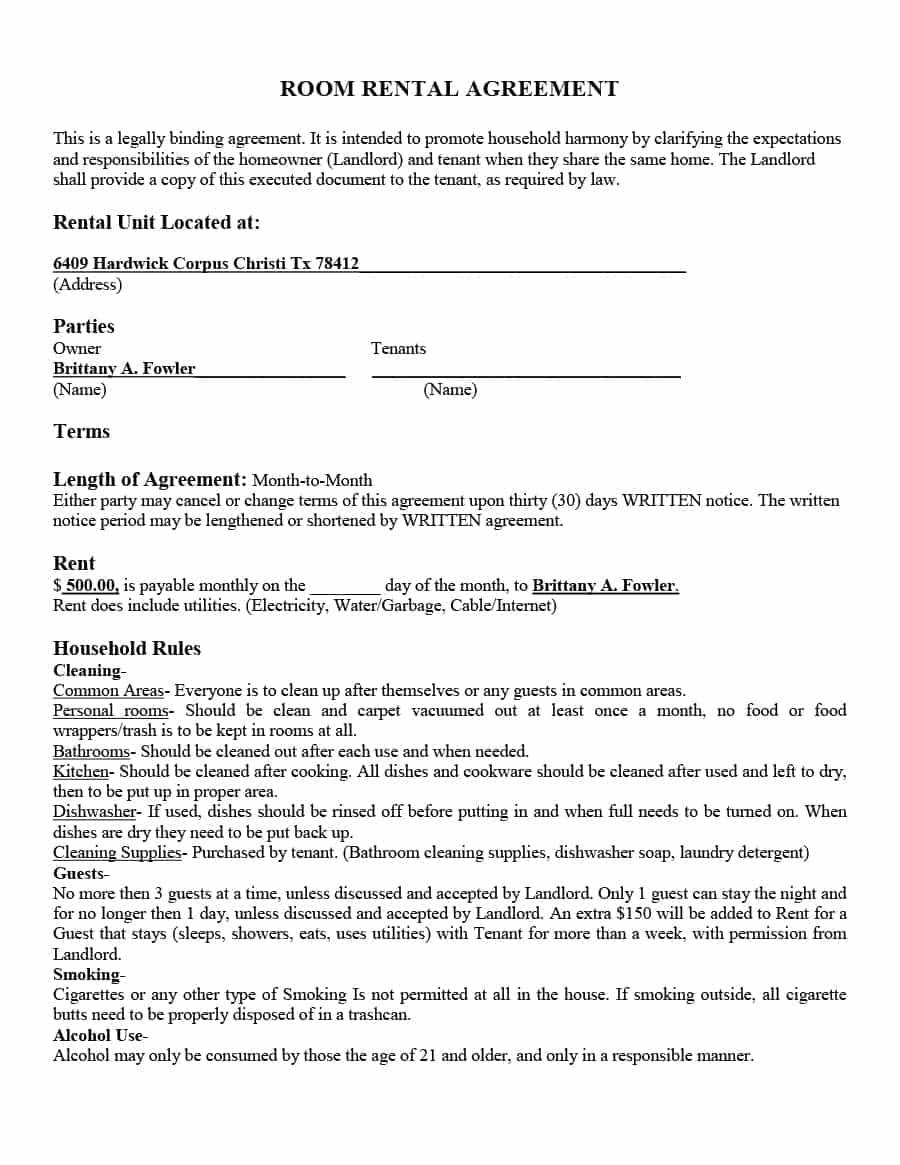 House Rental Agreement Template Singapore
