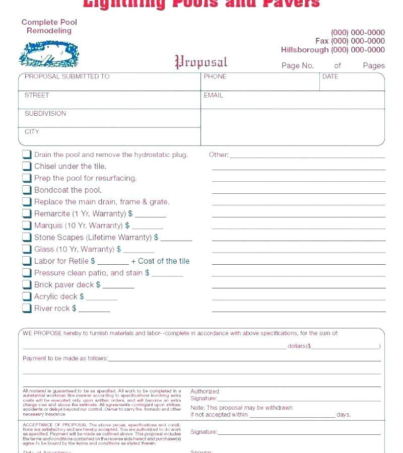 Housekeeping Contract Format