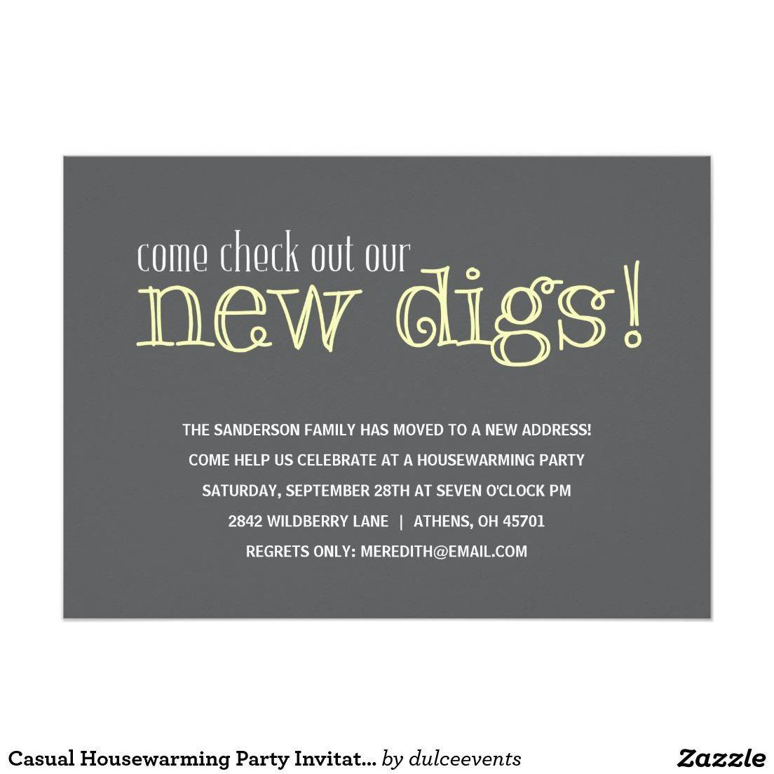 Housewarming Party Invite Free Template