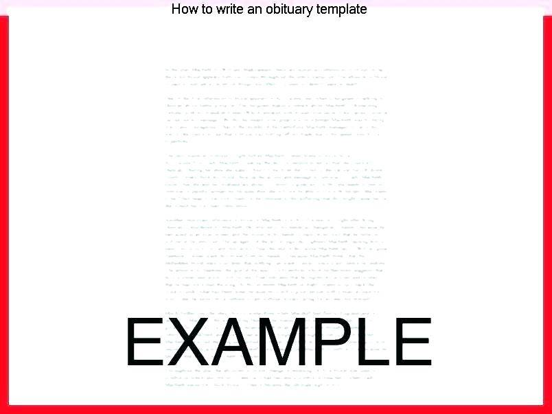 How To Create An Obituary Template