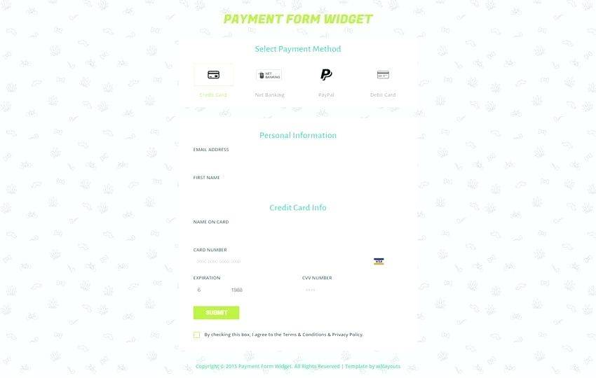 Html5 Form Template
