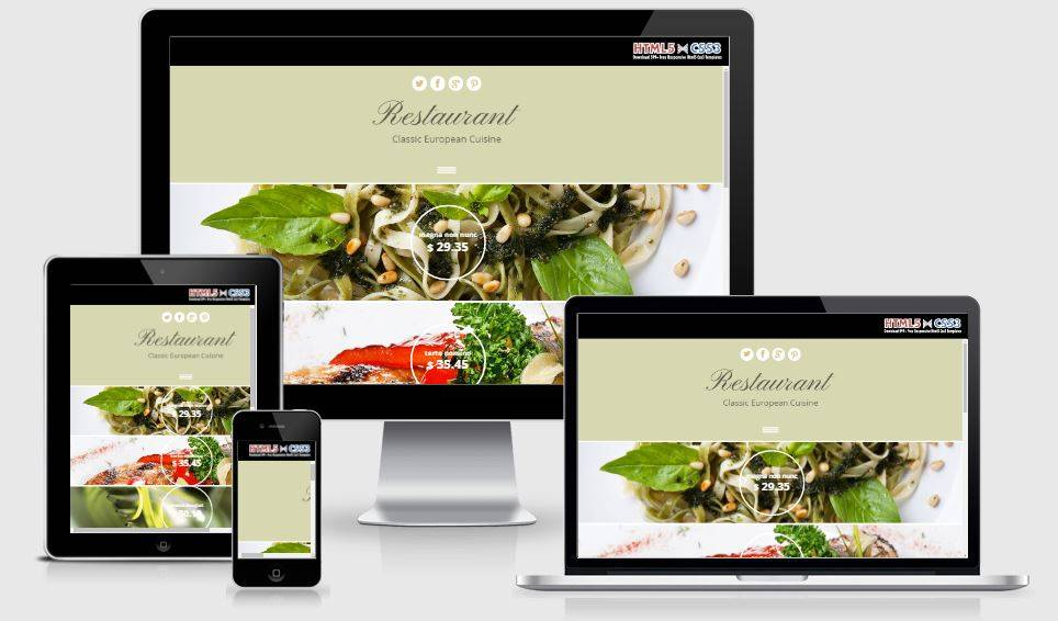Html5 Restaurant Template Free Download