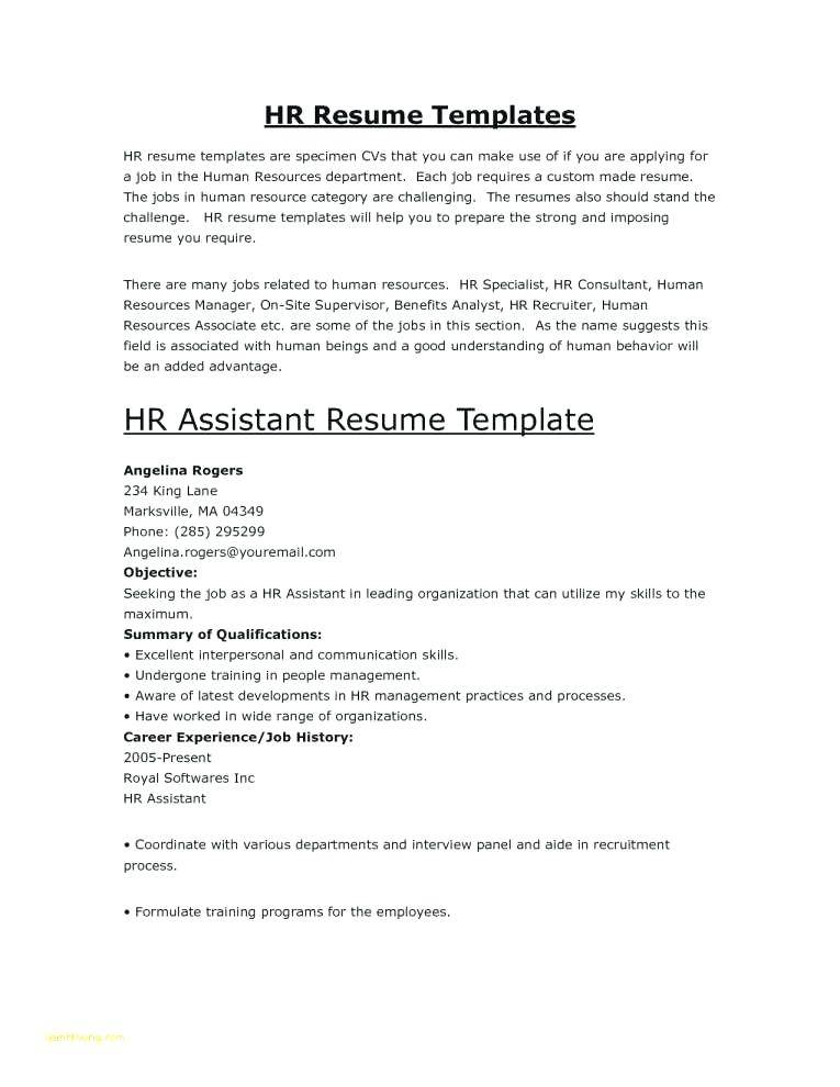 Human Resource Assistant Resume Templates