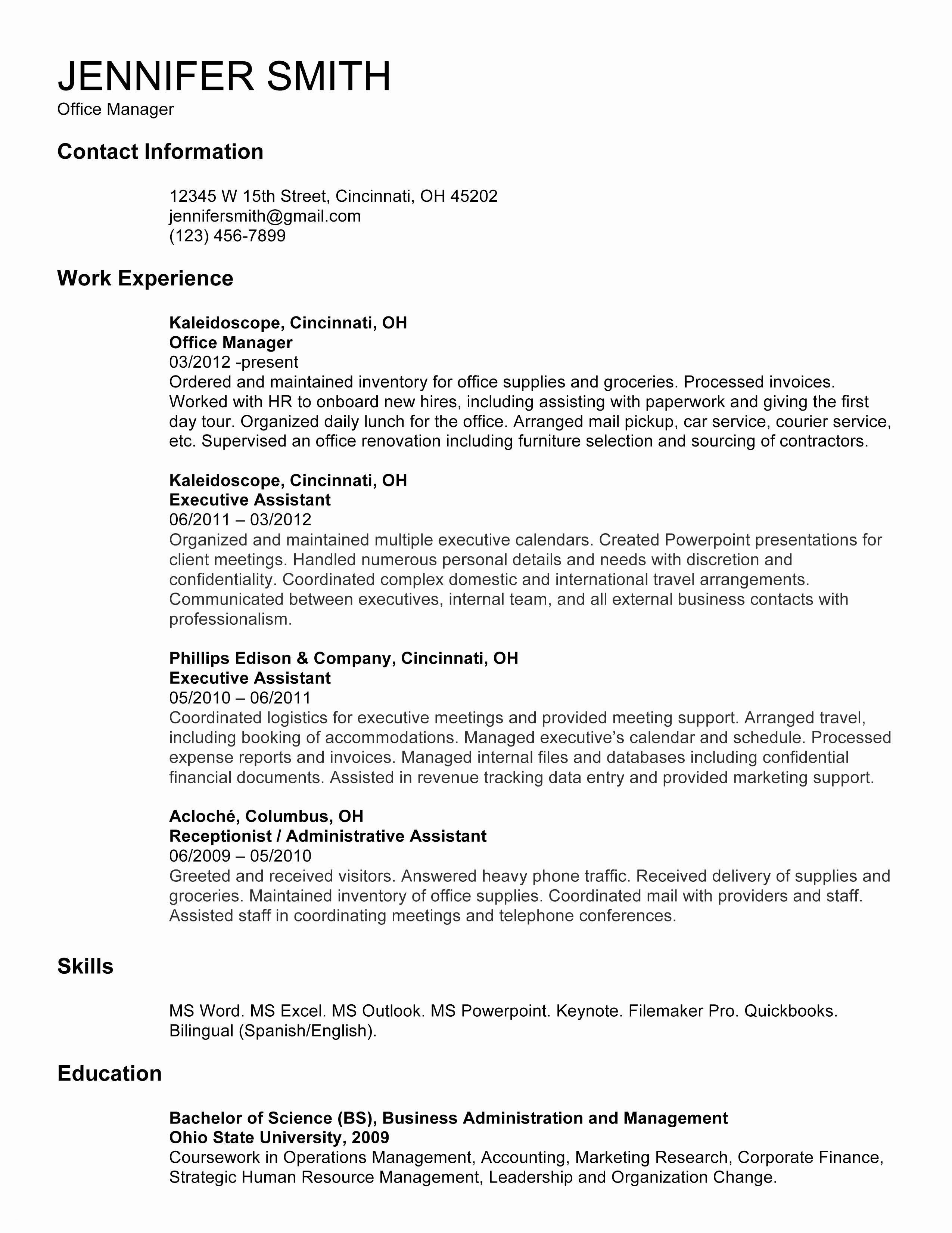 Human Resource Resume Template