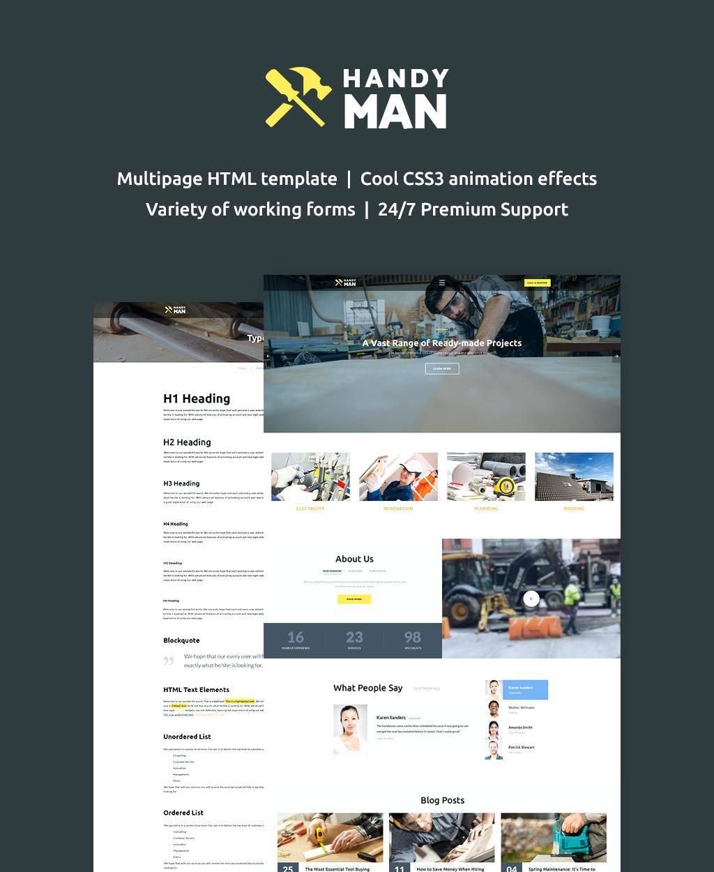 Hvac Company Website Templates