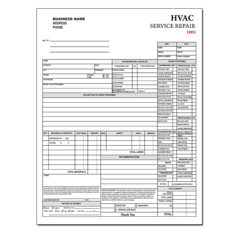 Hvac Invoice Templates