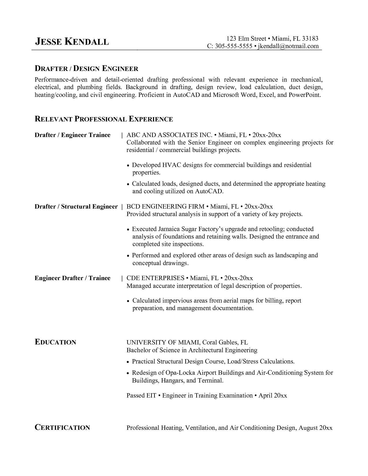 Hvac Resume Templates
