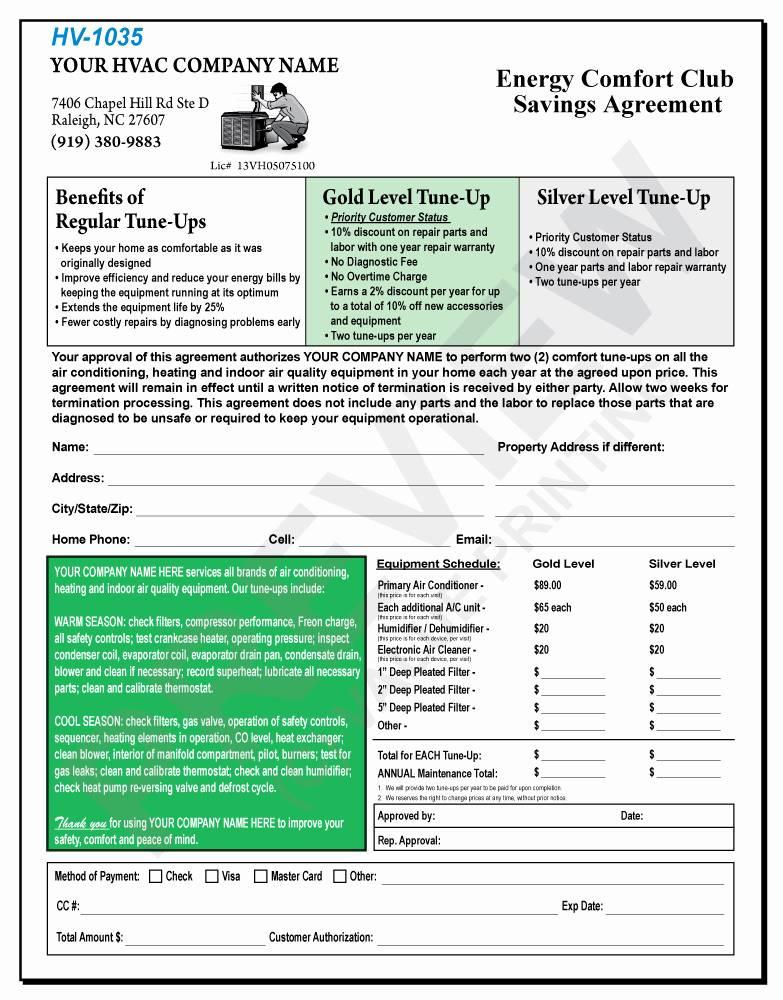 Hvac Service Agreement Template