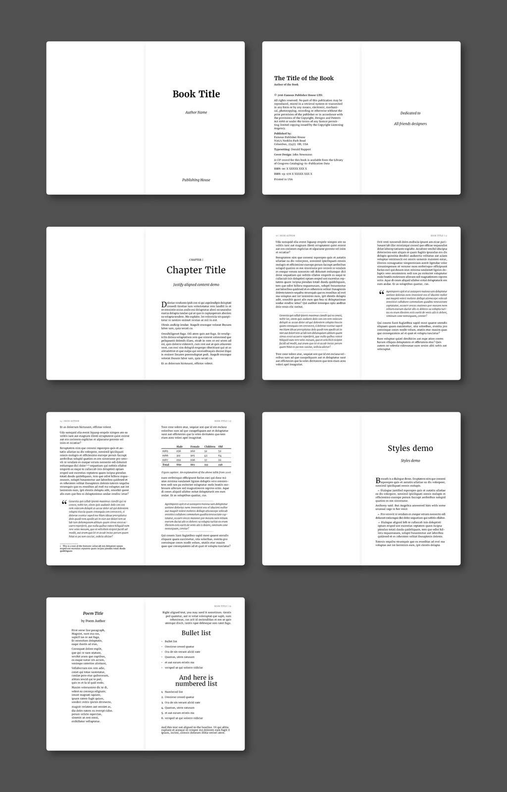 Indesign Photobook Layout Templates