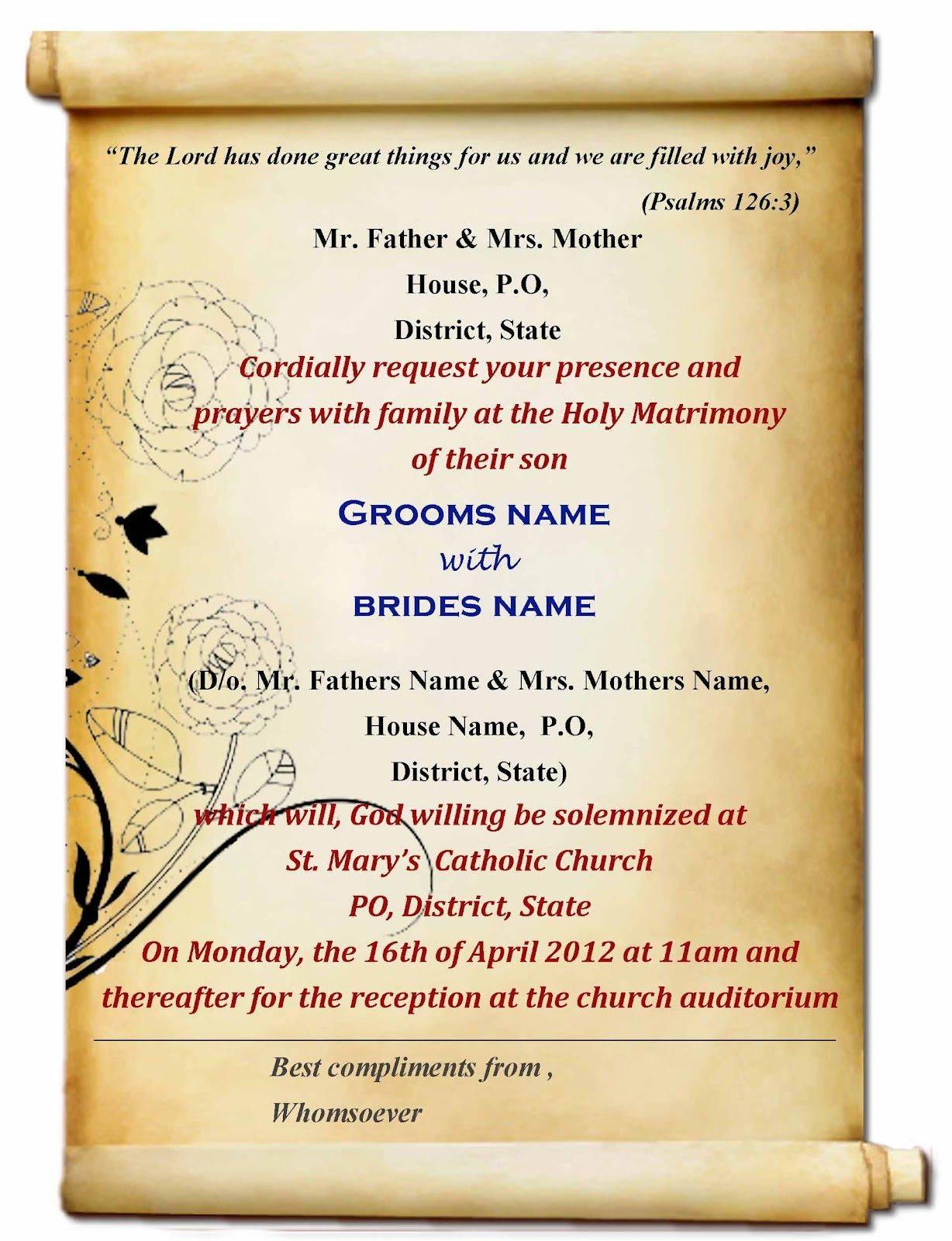 Indian Wedding Invitation Templates Download
