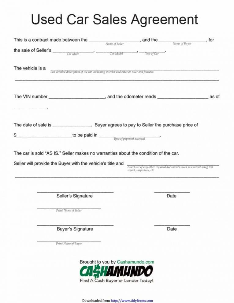 Installment Sale Contract Template