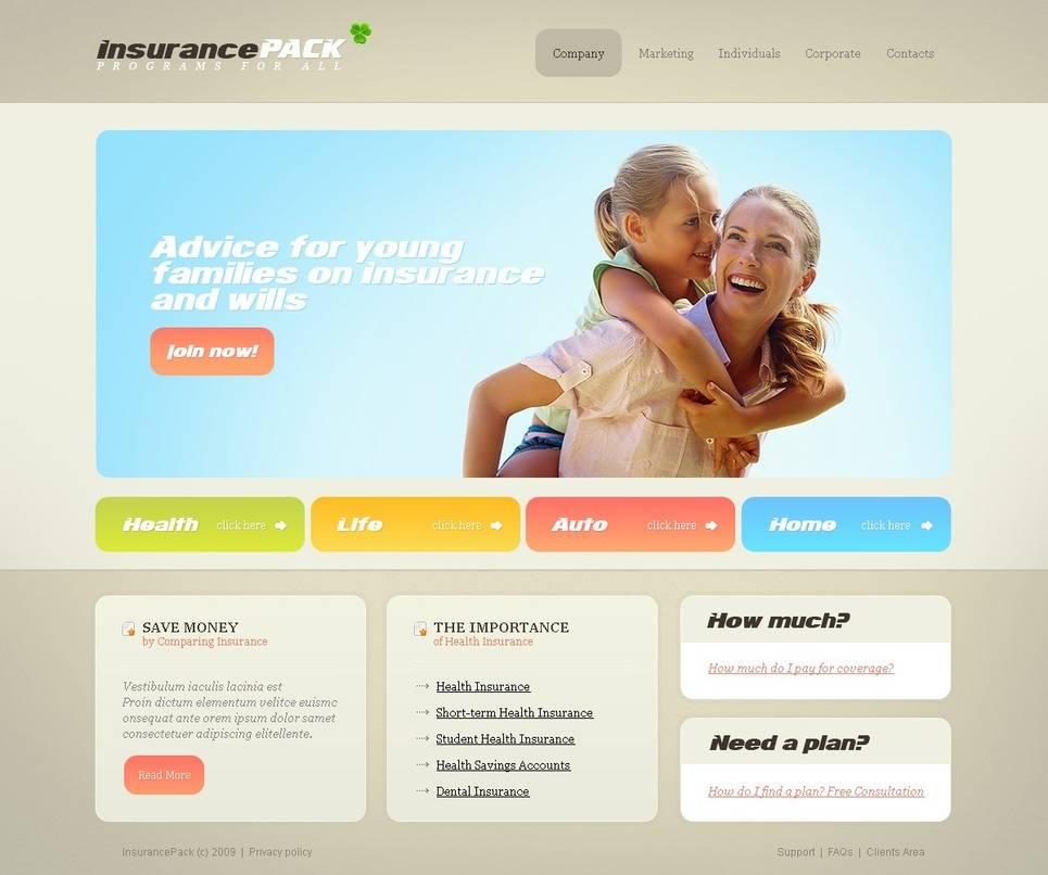 Insurance Agency Html5 Website Template