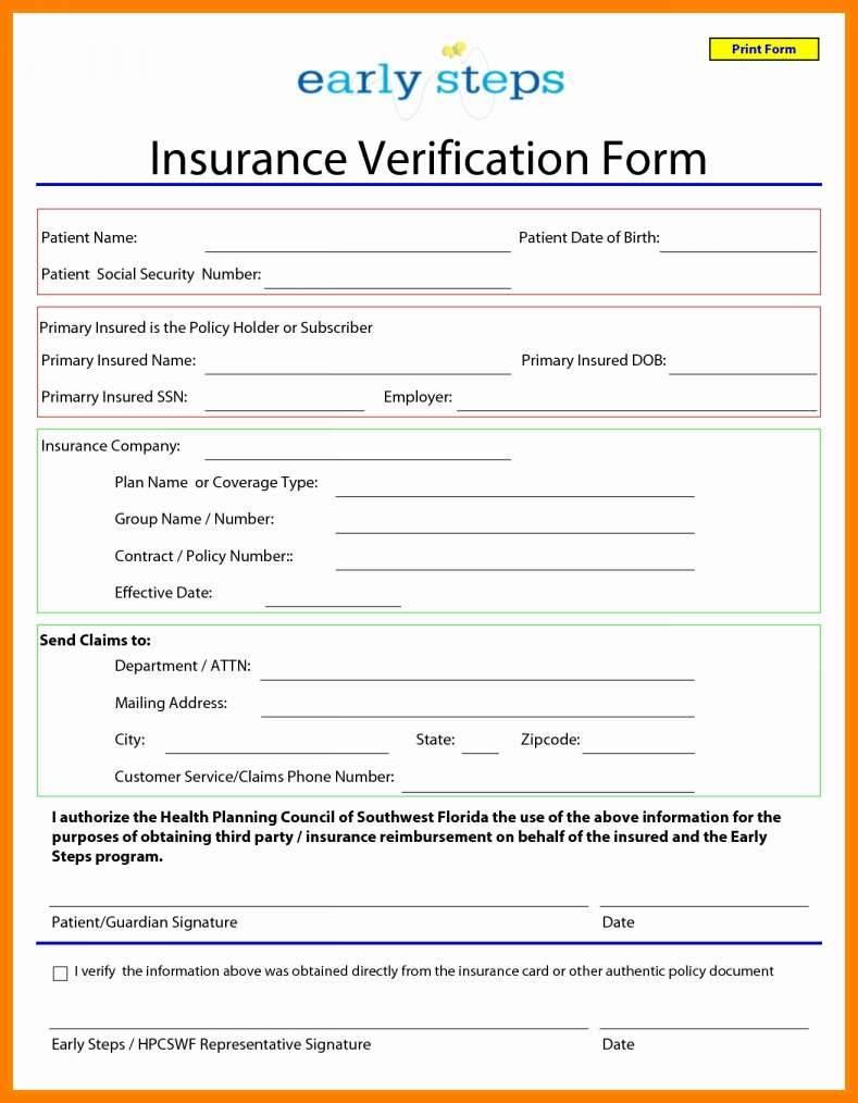 Insurance Claim Invoice Template
