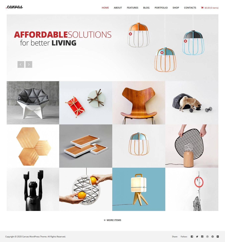 Interior Design Portfolio Themes