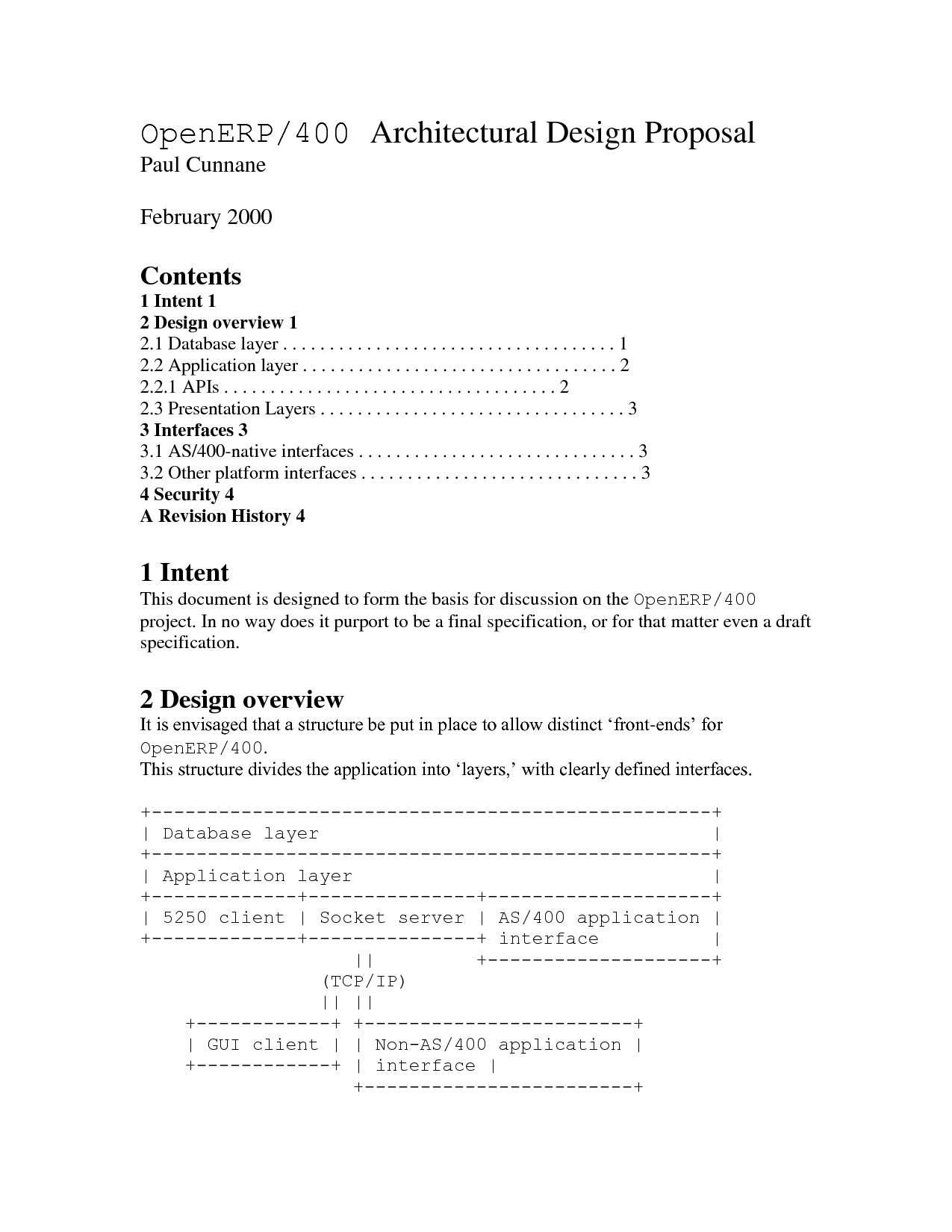 Interior Design Proposal Samples