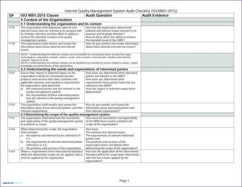 Internal Audit Risk Assessment Template Excel
