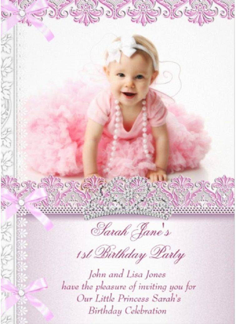 Invitation Templates For 1st Birthday Party