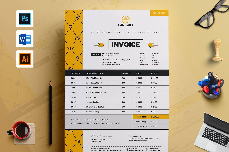 Invoice Bill Design Template