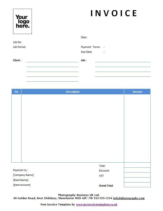 Invoice Template Uk Word