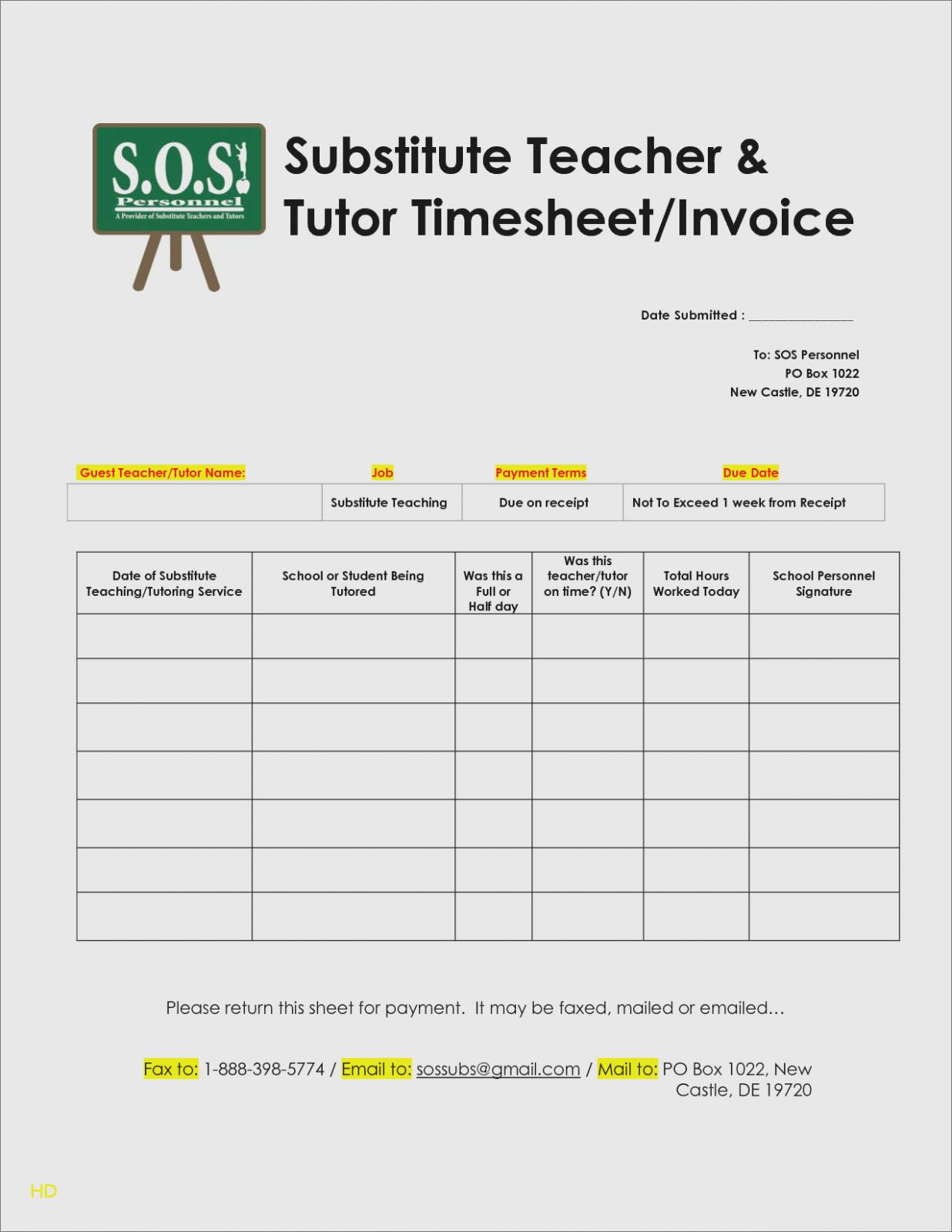 Invoice Template Word Google Docs