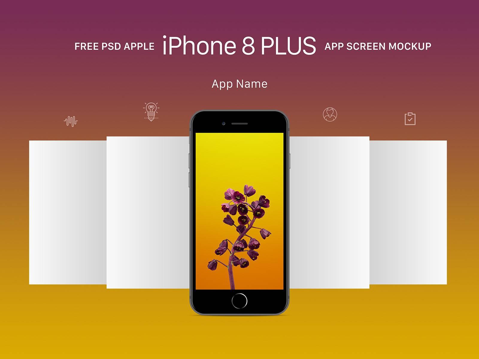 Iphone 8 App Mockup Psd