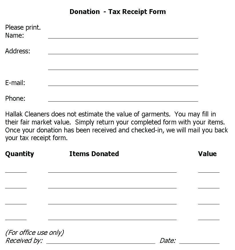 Irs Charitable Contribution Receipt Form