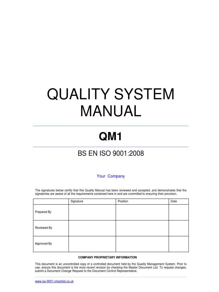 iso 9001 version 2015 quality manual
