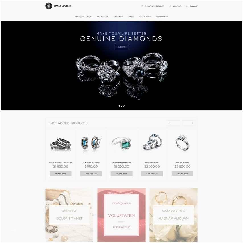 Jewellery Website Templates Wordpress