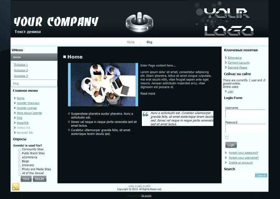 Free Joomla Intranet Templates - Templates #87000 | Resume