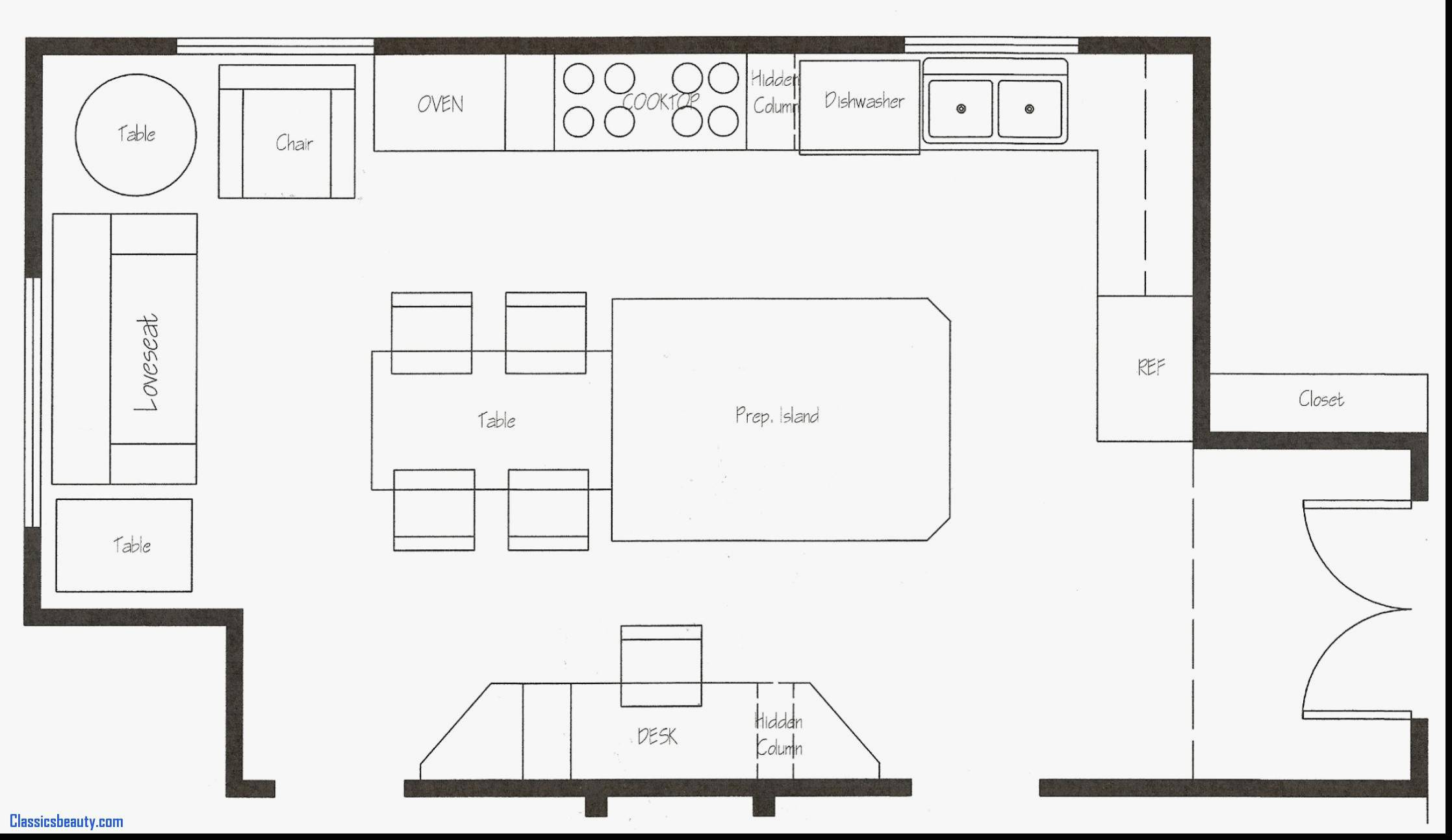 Kitchen Layout Templates Free