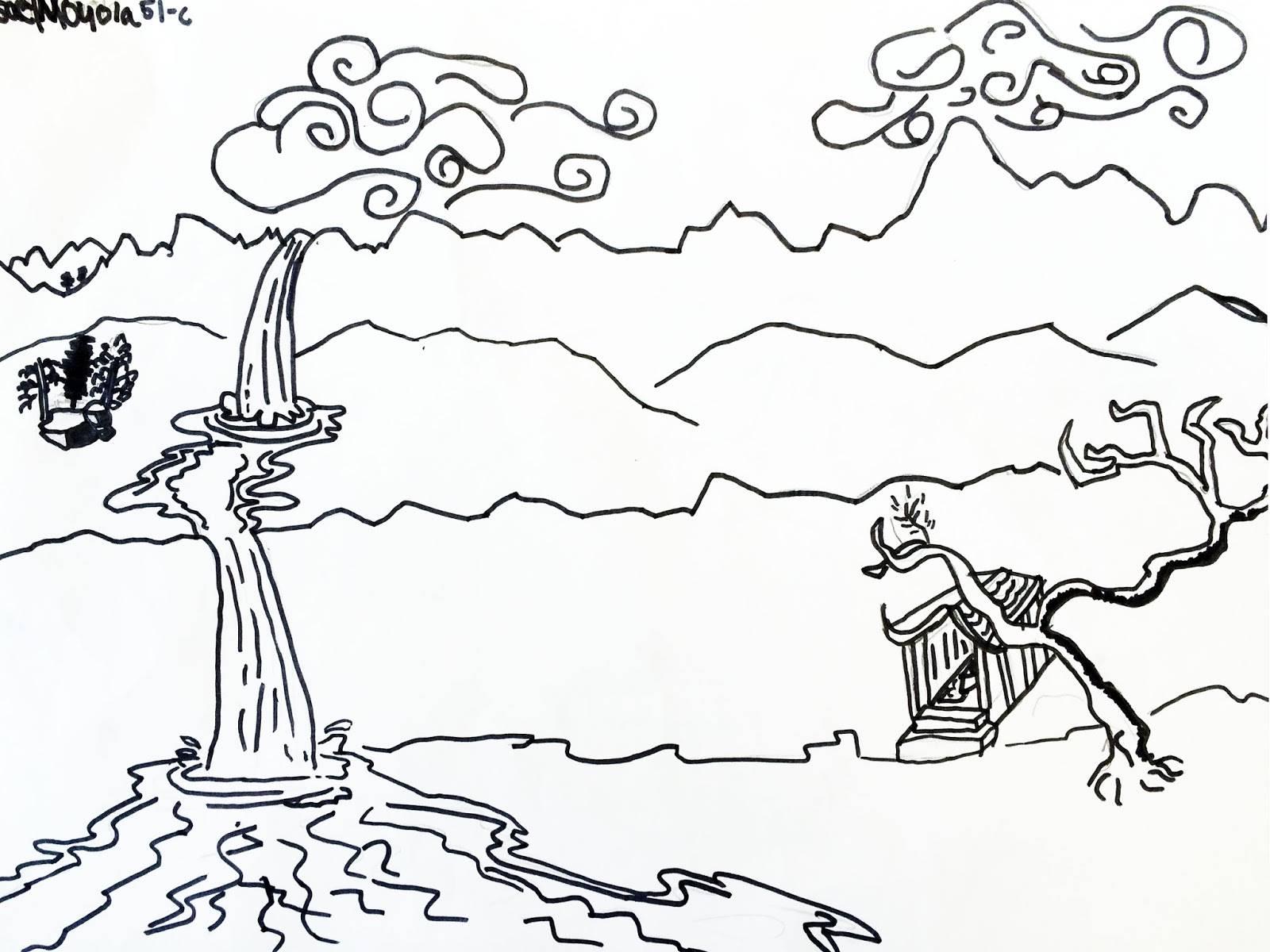 Landscape Drawing Templates