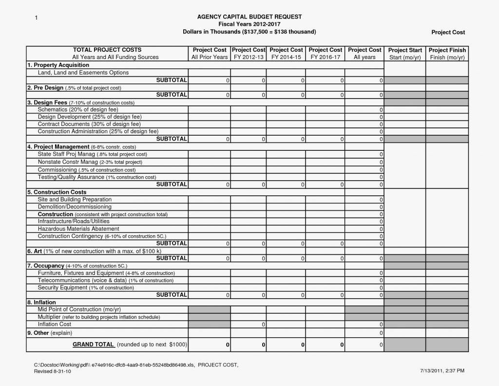 Landscape Estimate Template Excel