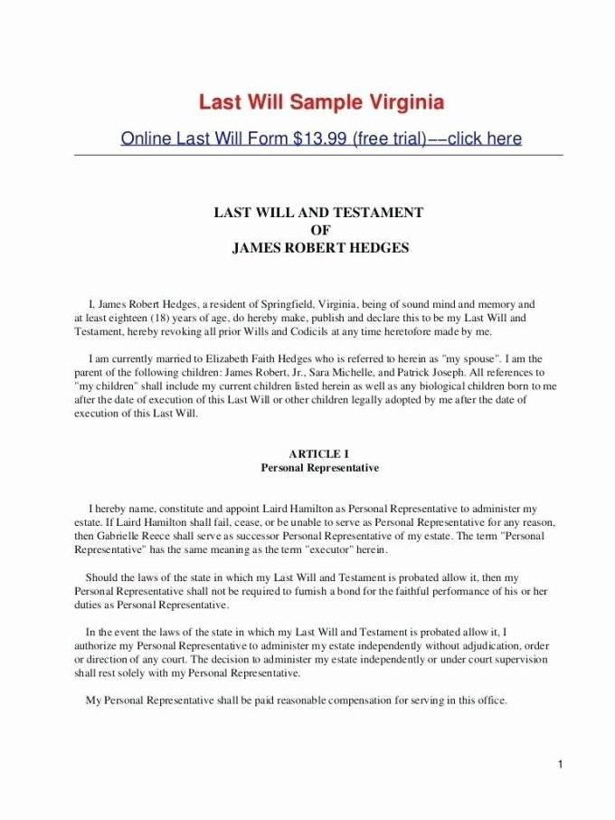 Last Will And Testament Template Microsoft Word Australia