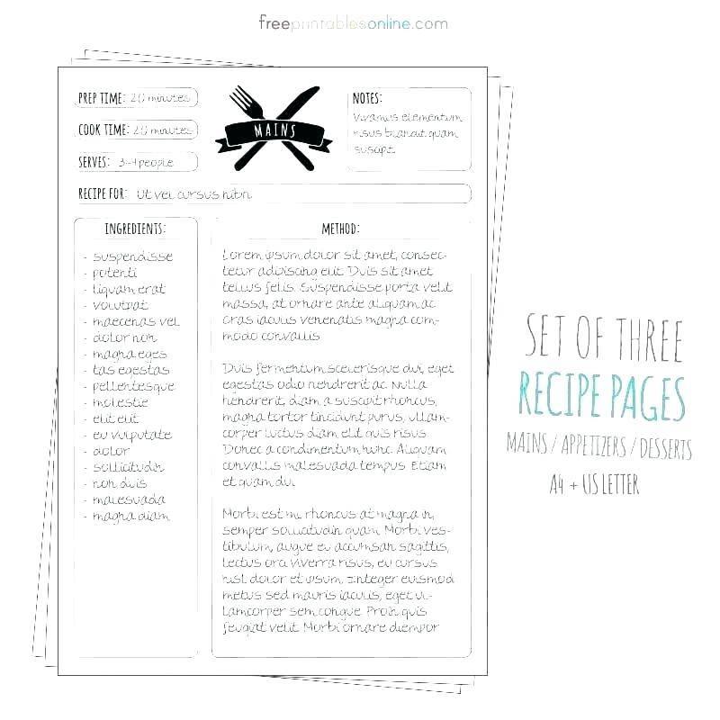 Latex Cookbook Recipe Template