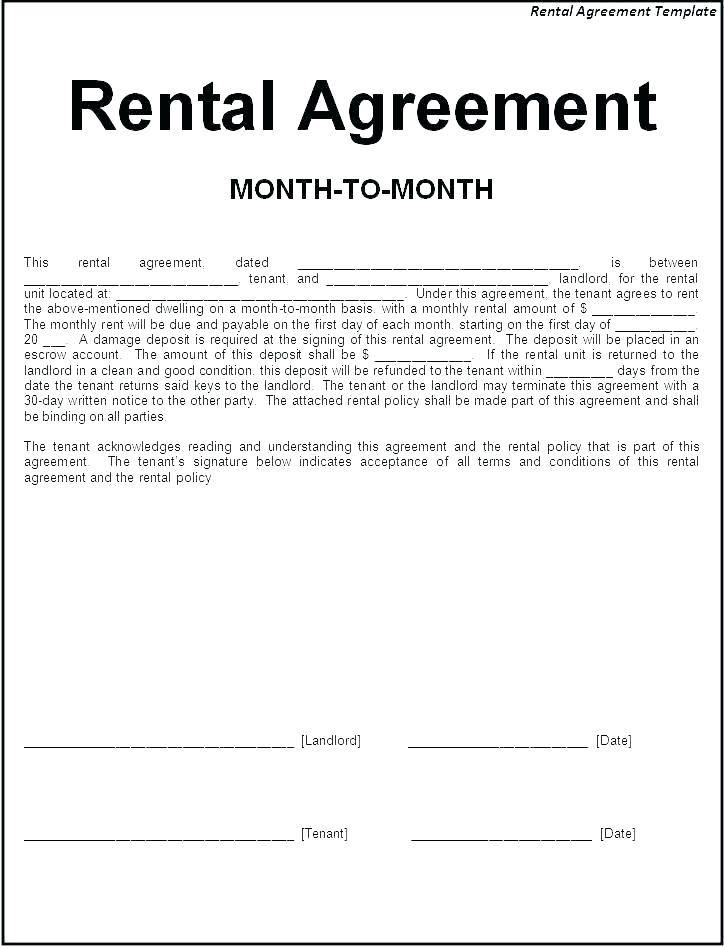 Lease Agreement Word Template South Africa