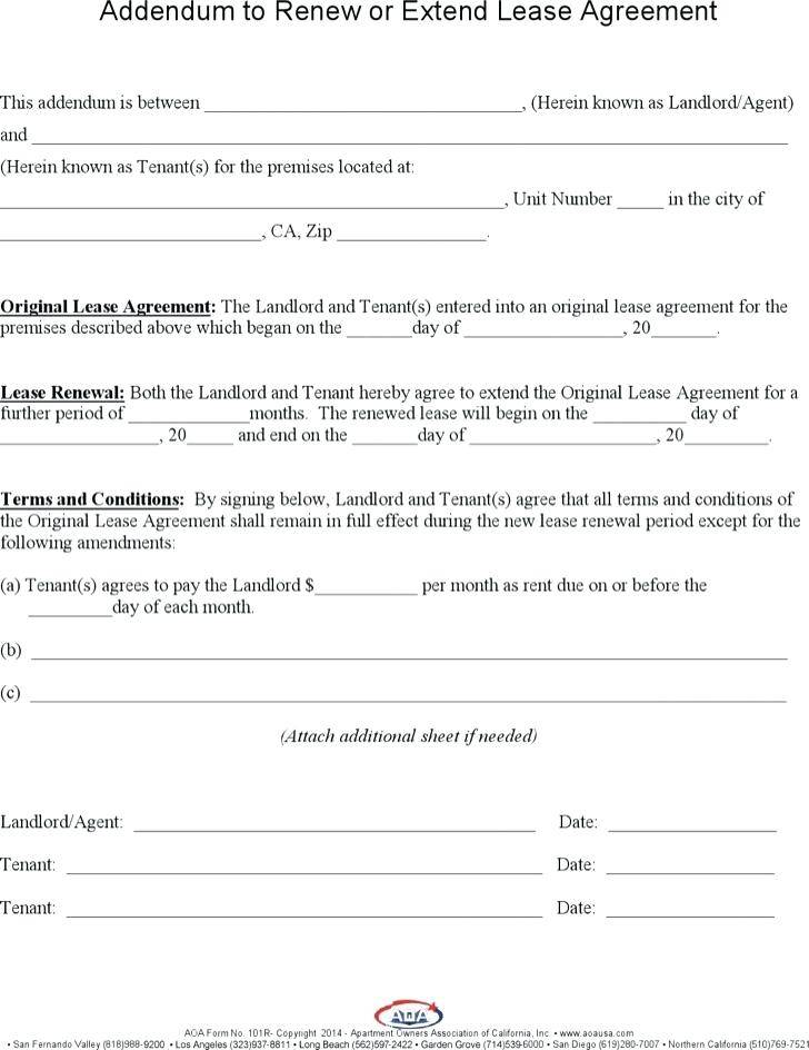 Lease Extension Template South Africa