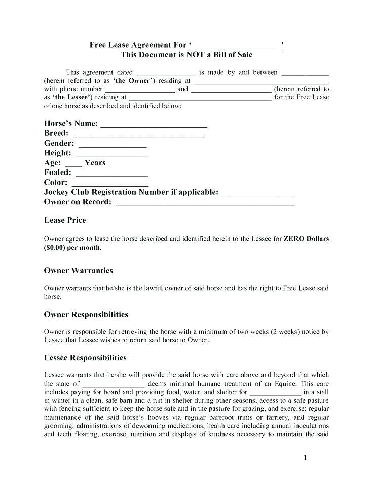 Lease To Buy Agreement Template