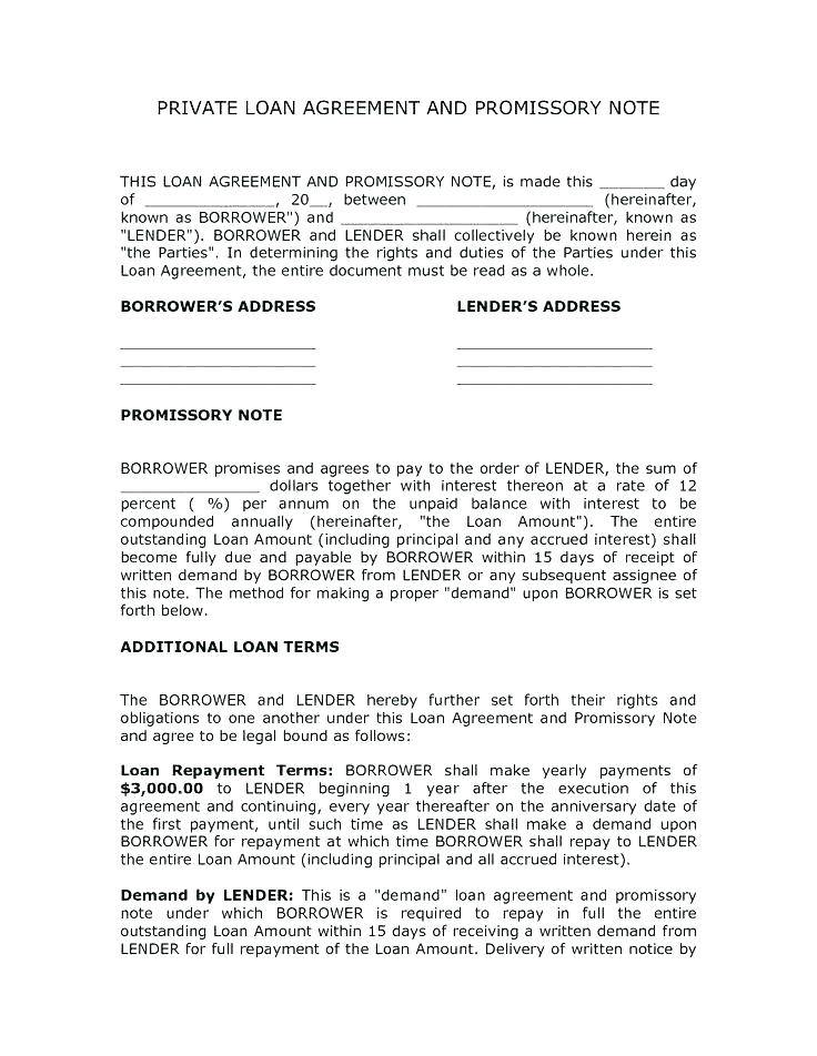 Lending Money Contract Template