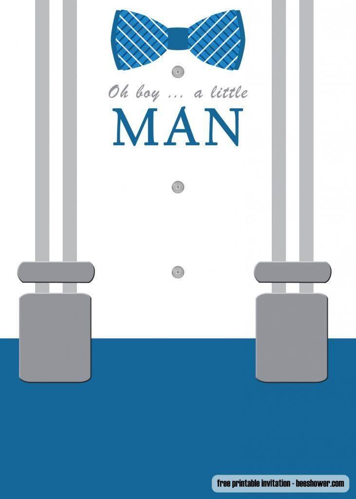 Little Man Baby Shower Invitation Template Free